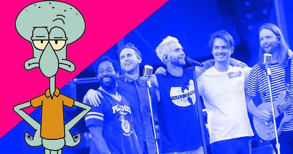 Voice of Squidward 'to introduce Maroon 5's Super Bowl halftime show'
