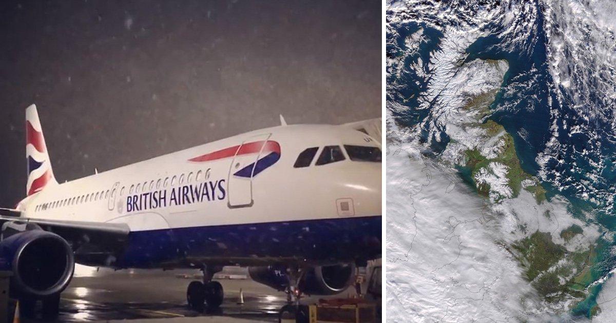 British Airways cancels Heathrow flights as snowstorm hits London