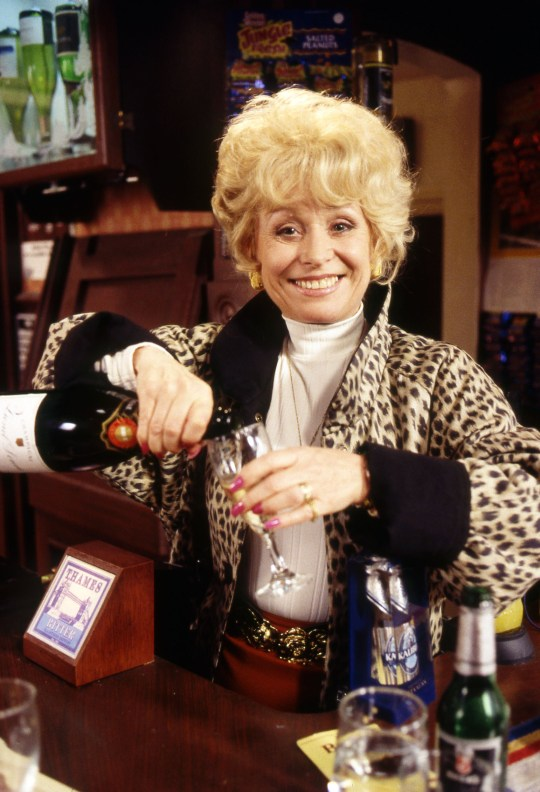 Television Programme: EastEnders with Barbara Windsor as Peggy Mitchell. Programme Name: EastEnders - TX: 19/02/2015 - Episode: 5017 (No. n/a) - Picture Shows: ARCHIVE SHOT FOR 30TH ANNIVERSARY Peggy Mitchell (BARBARA WINDSOR) - (C) BBC - Photographer: BBC. WARNING: Embargoed for publication until 10/02/2015.