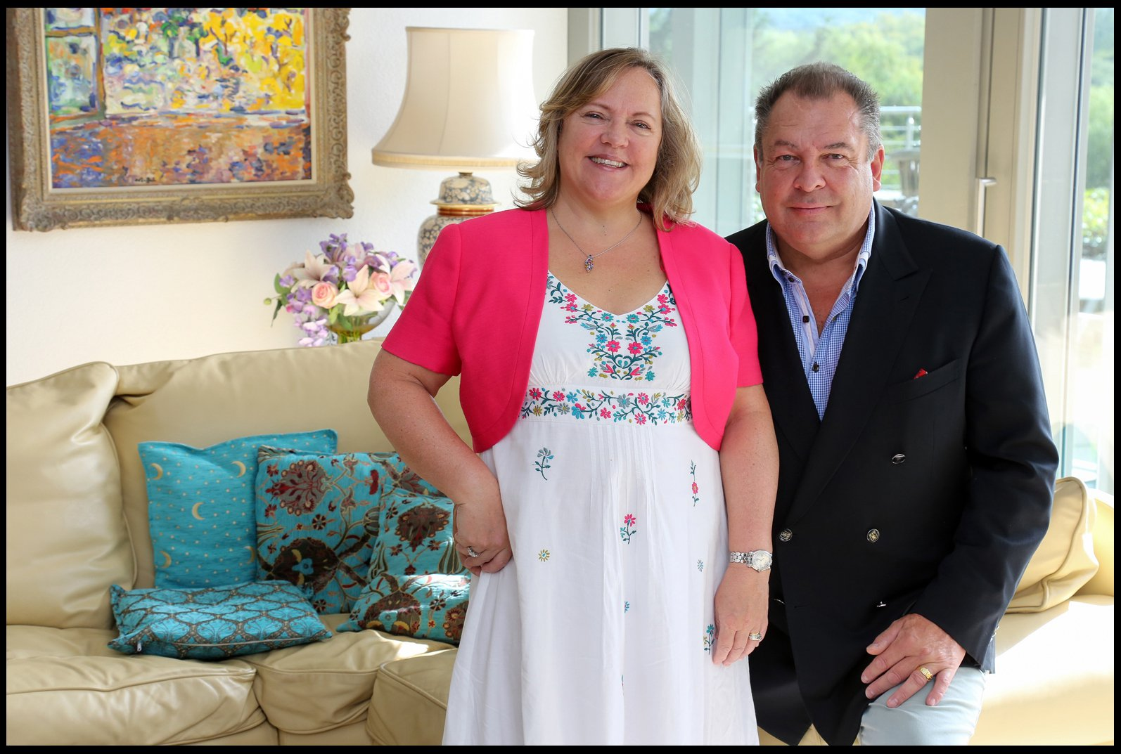 BNPS.co.uk (01202 558833) Pic: DeepSouthMedia/BNPS A couple who are raffling their stunning ?3m house at ?25 a pop have thrown in a runner's up prize ? a brand new Aston Martin worth ?160,000. Mark Beresford, a company managing director, and wife Sharon got fed up with sales of their six-bed riverside home falling through so they decided on the radical sales tactic. They will have to sell 120,000 tickets to reach the ?3m value of Avon Place near Ringwood, Hants. Now, to provide an extra incentive to enter the competition, they will take the runner-up to a showroom and get them to pick the Aston Martin DB11 V8 of their choice.
