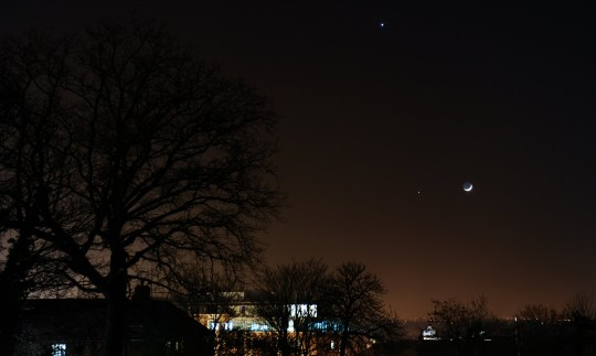 Venus and Jupiter conjunction is lighting up the night sky
