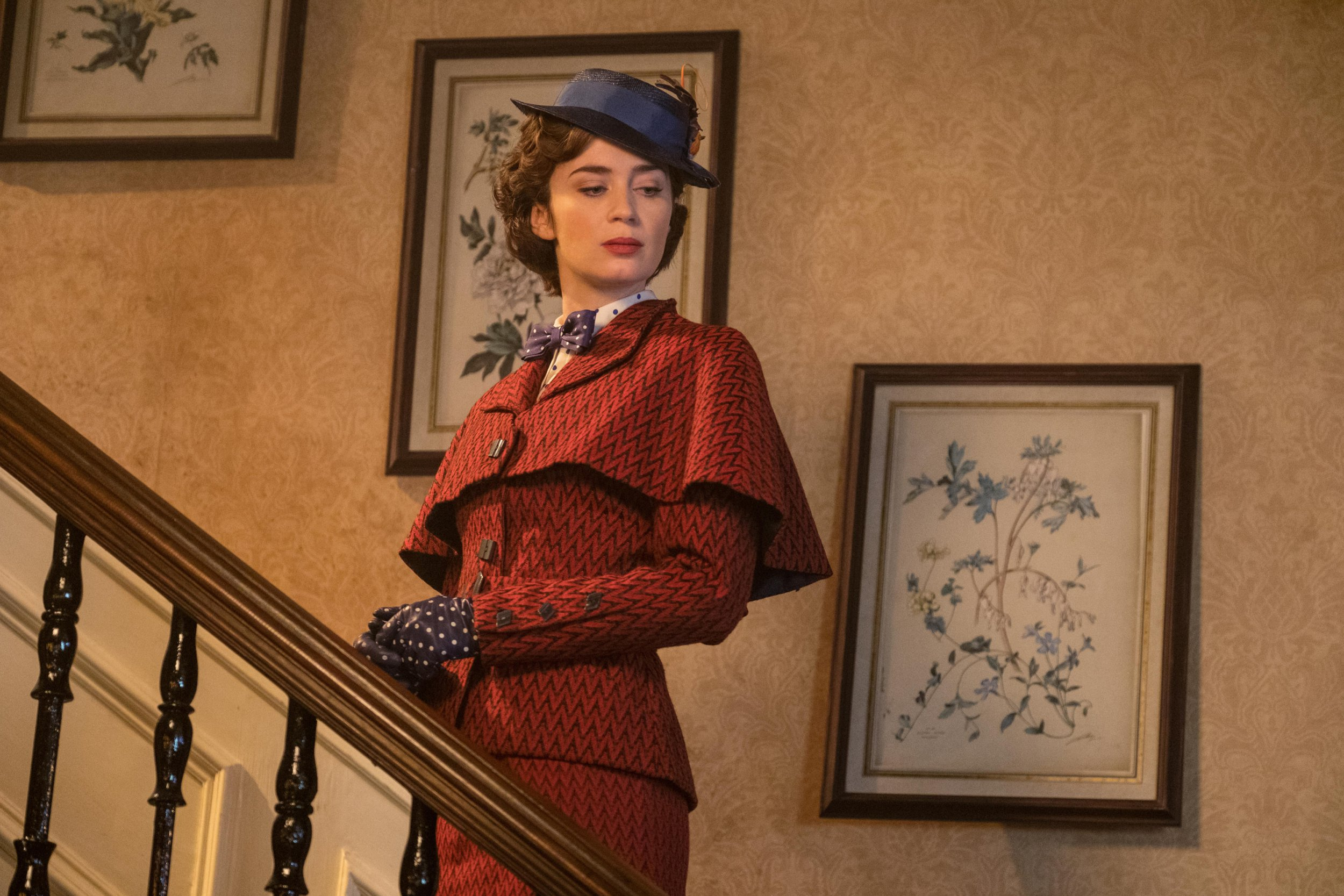 Emily Blunt is Mary Poppins in Disney???s MARY POPPINS RETURNS, a sequel to the 1964 film MARY POPPINS, which takes audiences on an all-new adventure with the practically perfect nanny and the Banks family.