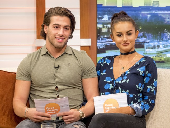 Kem Cetinay and Amber Davies 'Good Morning Britain' TV show