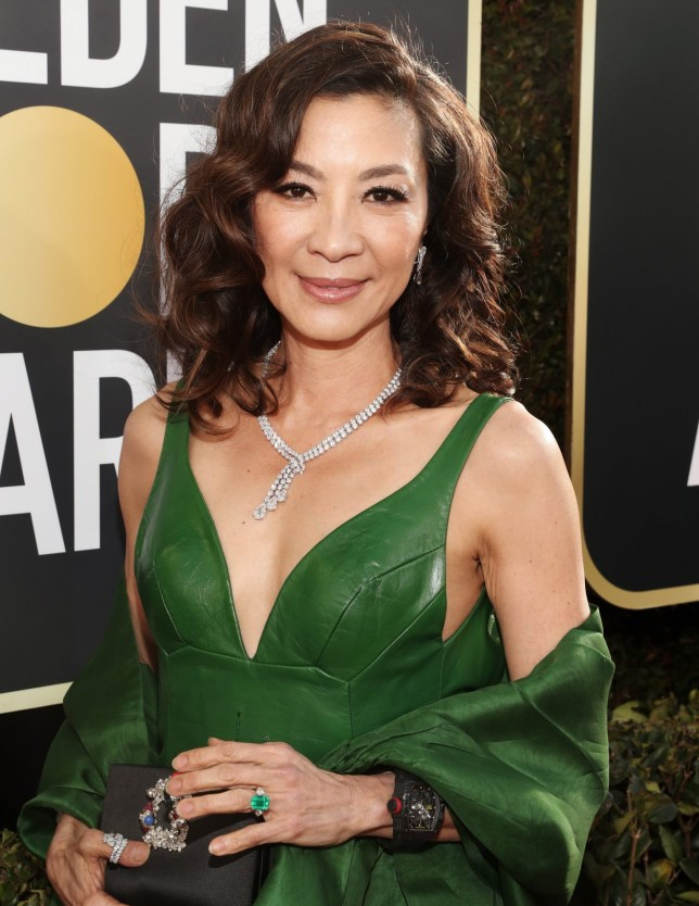 BEVERLY HILLS, CA - JANUARY 06: 76th ANNUAL GOLDEN GLOBE AWARDS -- Pictured: (l-r) Michelle Yeoh arrive to the 76th Annual Golden Globe Awards held at the Beverly Hilton Hotel on January 6, 2019. -- (Photo by Todd Williamson/NBC/NBCU Photo Bank)