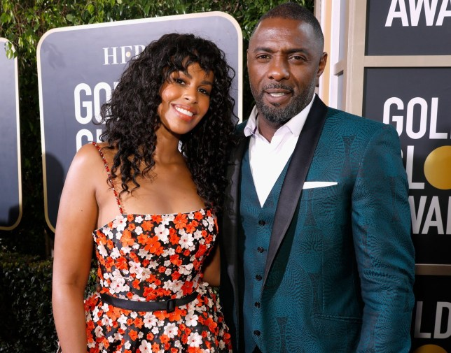 BEVERLY HILLS, CA - JANUARY 06: 76th ANNUAL GOLDEN GLOBE AWARDS -- Pictured: (l-r) Sabrina Dhowre and Idris Elba arrive to the 76th Annual Golden Globe Awards held at the Beverly Hilton Hotel on January 6, 2019. -- (Photo by Trae Patton/NBC/NBCU Photo Bank)