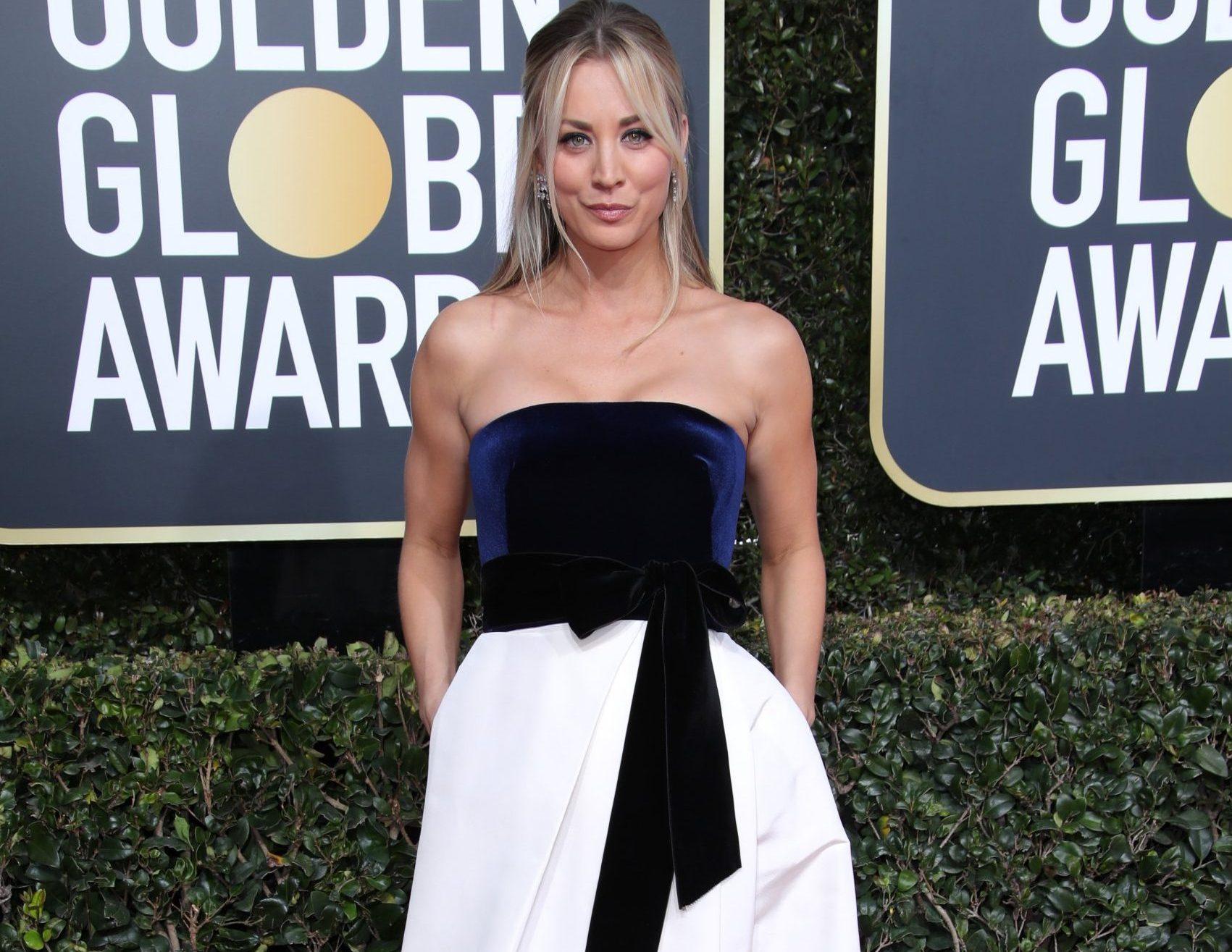 Mandatory Credit: Photo by Matt Baron/BEI/REX (10048067ir) Kaley Cuoco 76th Annual Golden Globe Awards, Arrivals, Los Angeles, USA - 06 Jan 2019