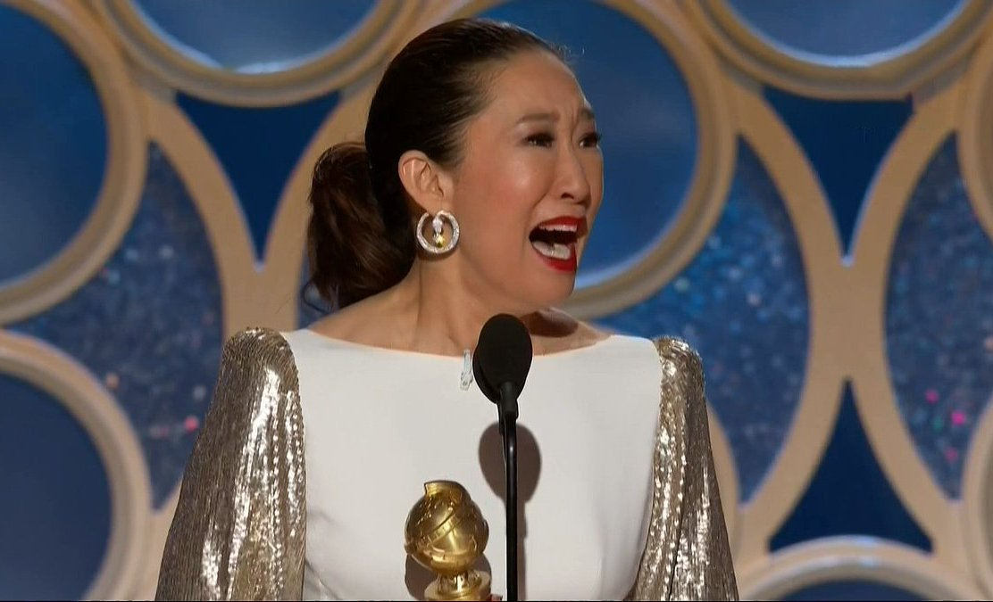 Sandra Oh finally wins Golden Globe for Killing Eve and her proud father is living for it