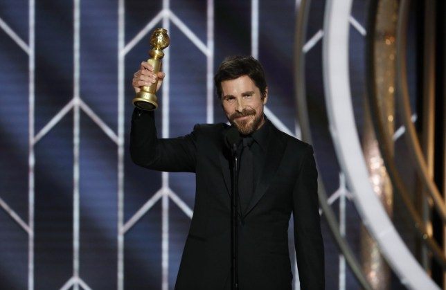 BEVERLY HILLS, CALIFORNIA - JANUARY 06: In this handout photo provided by NBCUniversal, Christian Bale from Vice accepts the Best Actor in a Motion Picture Musical or Comedy award onstage during the 76th Annual Golden Globe Awards at The Beverly Hilton Hotel on January 06, 2019 in Beverly Hills, California. (Photo by Paul Drinkwater/NBCUniversal via Getty Images)