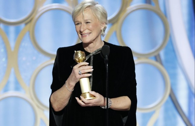 BEVERLY HILLS, CALIFORNIA - JANUARY 06: In this handout photo provided by NBCUniversal, Glenn Close from The Wife accepts the Best Actress in a Motion Picture Drama award onstage during the 76th Annual Golden Globe Awards at The Beverly Hilton Hotel on January 06, 2019 in Beverly Hills, California. (Photo by Paul Drinkwater/NBCUniversal via Getty Images)