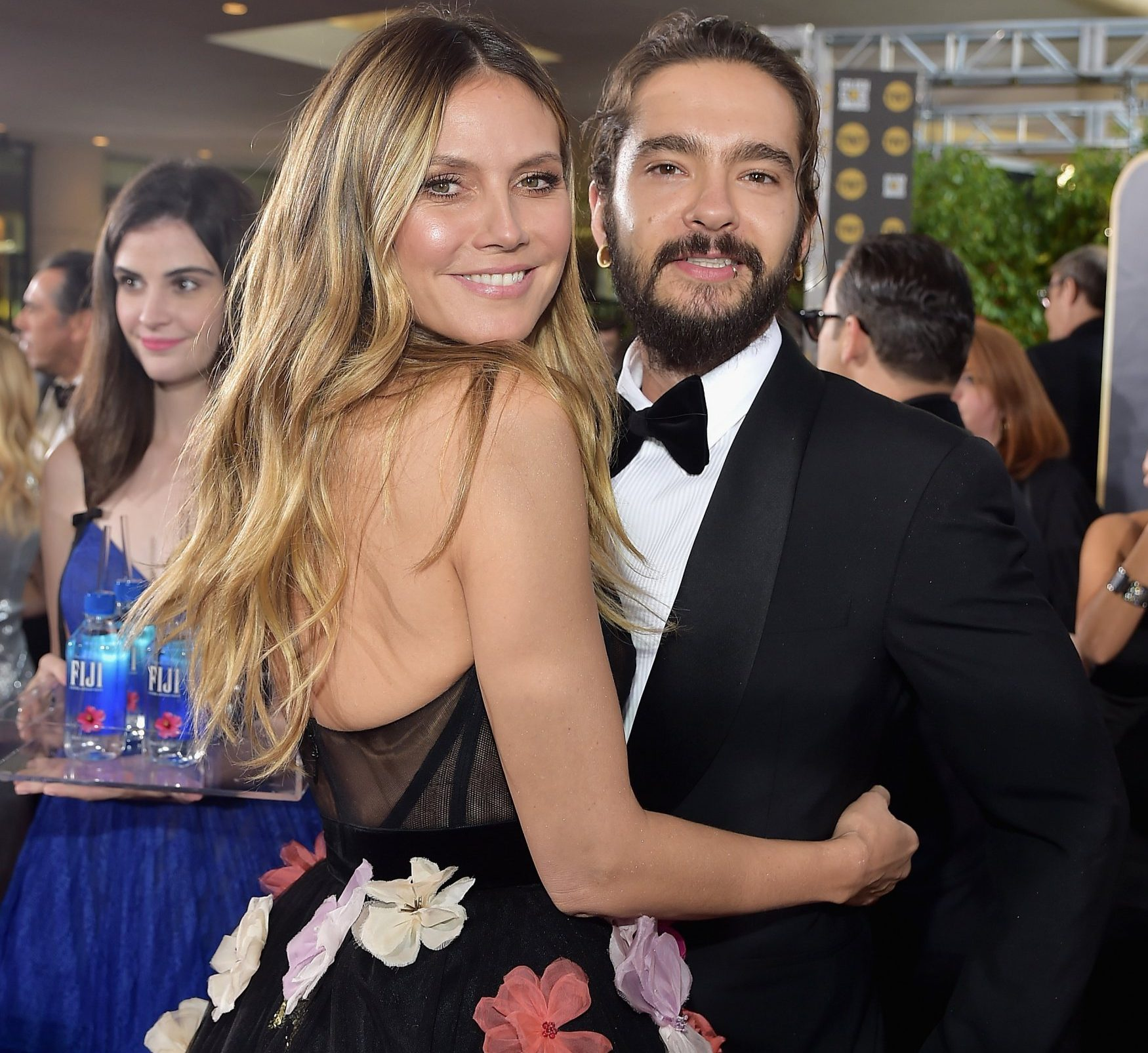 LOS ANGELES, CA - JANUARY 06: Heidi Klum (L) and Tom Kaulitz attend FIJI Water at the 76th Annual Golden Globe Awards on January 6, 2019 at the Beverly Hilton in Los Angeles, California. (Photo by Stefanie Keenan/Getty Images for FIJI Water)