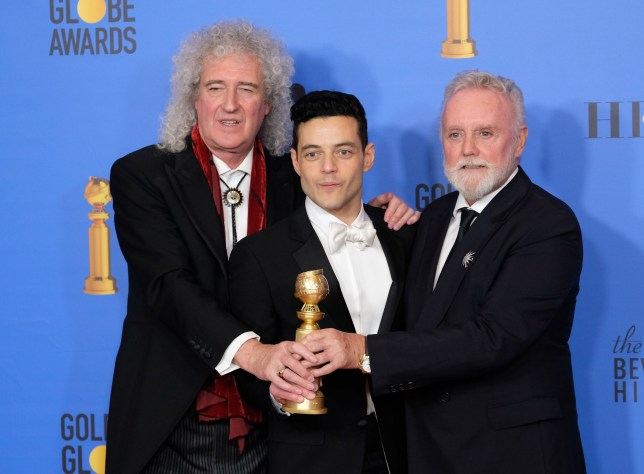 76th Annual Golden Globe Awards - Press Room Pictured: Jim Beach,Brian May,Rami Malek Ref: SPL5053276 060119 NON-EXCLUSIVE Picture by: Jen Lowery / SplashNews.com Splash News and Pictures Los Angeles: 310-821-2666 New York: 212-619-2666 London: 0207 644 7656 Milan: 02 4399 8577 photodesk@splashnews.com World Rights,