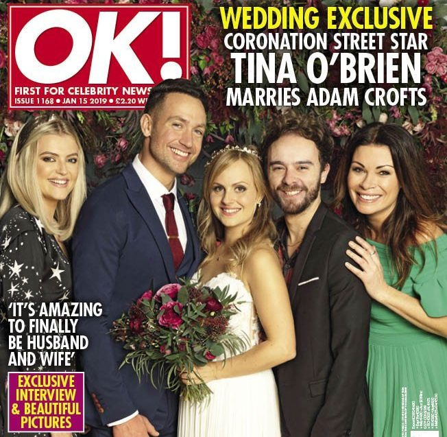 Coronation Street star Tina O'Brien in first look pics of romantic New Year wedding to Adam Crofts