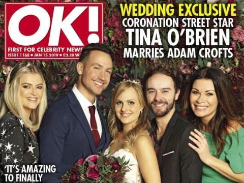 Coronation Street star Tina O'Brien in first look pics of romantic New Year wedding to Adam Crofts