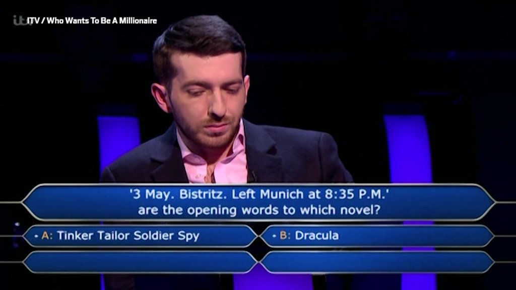 Who wants to be a millionaire? fail picture: itv METROGRAb