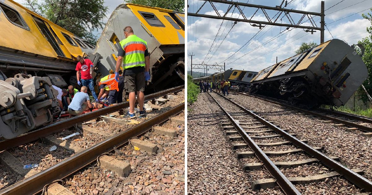 Two dead and 200 injured after trains crash head-on in South Africa
