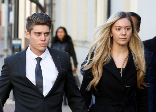 "Alex Hepburn, 23, arrives walking hand in hand with a female at Worcester Crown Court. A professional county cricketer raped a sleeping woman after taking part in a sexual conquest game with teammates on Whatsapp, a court heard. See SWNS story SWMDrape. Alex Hepburn, 23, is accused of taking advantage of the victim after coming home to find her sleeping on his friend's bed in the early hours on April 1, 2017. The Australian-born Worcestershire CCC all-rounder had shared a flat with fellow cricketer Joe Clarke, a former England Lions player, in Albion Mil, Worcester. A court heard they had created a Whatsapp group called the 'Stat Chat' in which members would reveal details of their sexual encounters with girls known as ""freshies"". Hepburn, Clarke and another member called Tom, agreed the game would begin on the Friday, March 30, when Joe got back from tour. Jurors were told they gone out that night and Clarke had met the girl, who cannot be named for legal reason, in a nightclub and taken her back to his flat. She claims she had consented to sex with Clarke, who now plays for Nottinghamshire CCC, before falling asleep with him spooning her."