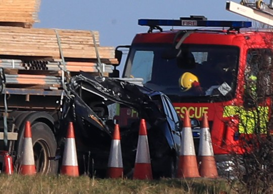 The scene of a multi vehicle crash on the M58 between J4 Skelmersdale and J3 Bickerstaffe in Lancashire. PRESS ASSOCIATION Photo. Picture date: Tuesday January 8, 2019. See PA story POLICE M58. Photo credit should read: Peter Byrne/PA Wire