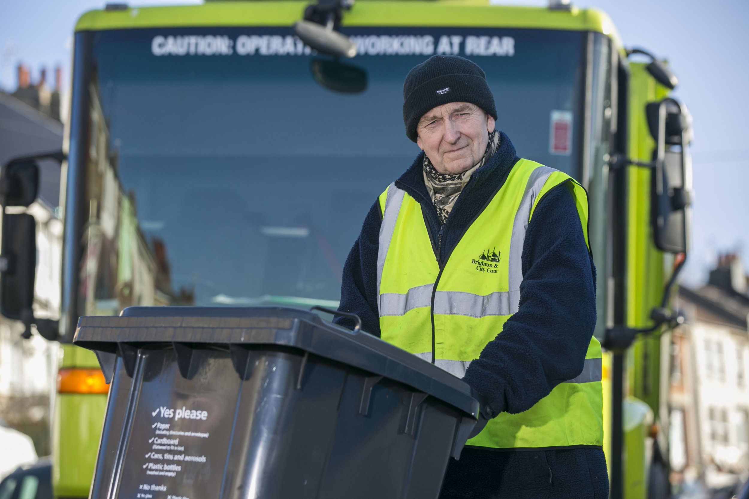 Whistleblower Ken Quantick has said a refuse giant is burning tonnes of Christmas recycling as it is so overwhelmed with waste***Pic by David McHugh / Brighton Pictures 07768 721637***