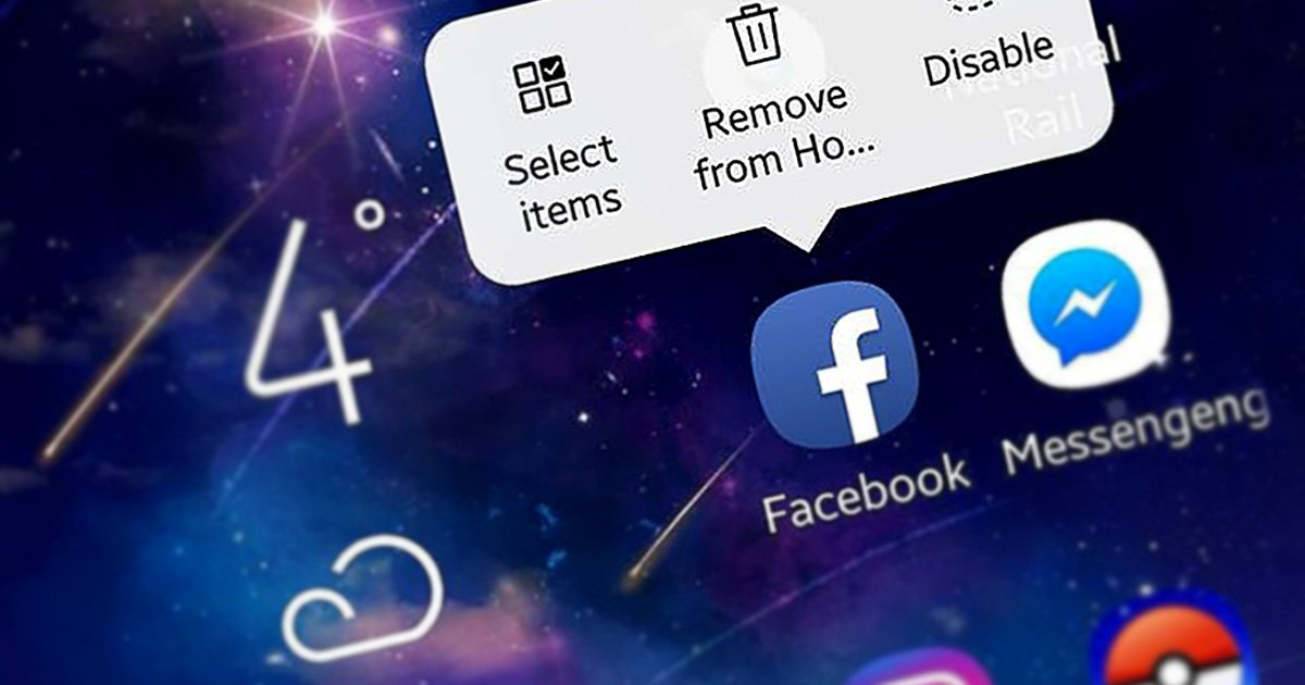Samsung phone users alarmed to find they can't delete Facebook off new devices Picture: Mylo