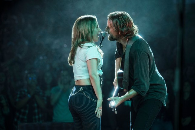 Lady Gaga as Ally, Bradley Cooper as Jack in A Star Is Born