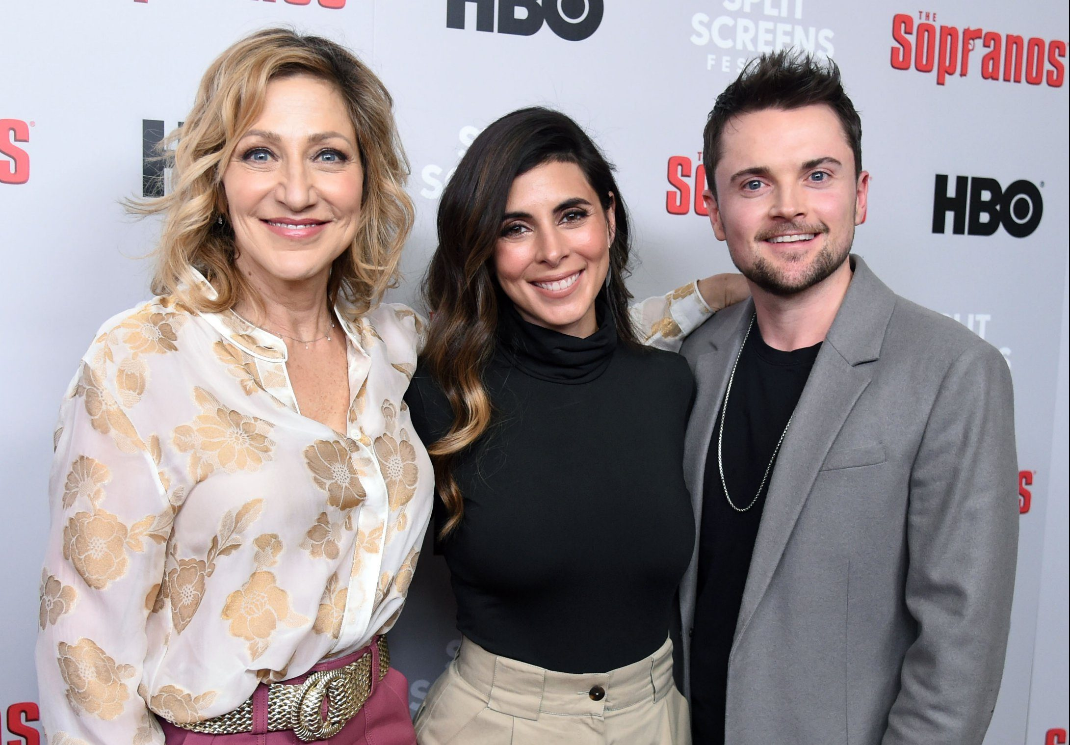 Mandatory Credit: Photo by Stephen Lovekin/REX (10052579k) Edie Falco, Jamie-Lynn Sigler and Robert Iler 'Woke Up This Morning: The Sopranos 20th Anniversary Celebration', Arrivals, New York, USA - 09 Jan 2019 The Sopranos??Film Festival, a weeklong tribute to David Chase'??s groundbreaking HBO series, opens Wednesday, January 9 with a??celebration at the SVA Theatre followed by five??days of live events at IFC Center. Presented by the Split Screens festival and organized by Split Screens Creative Director Matt Zoller Seitz, longtime TV critic for??New York magazine, the program screens classic films and??Sopranos??episodes to explore the series influences and legacy on the occasion of its 20th??anniversary.