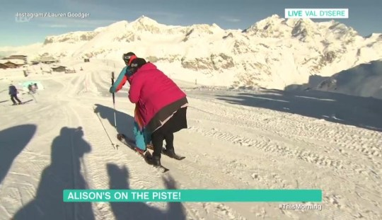 METRO GRAB ITV Alison Hammond falls off skies twice on live TV