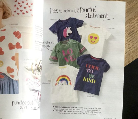 b1162f253ecc0 Outrage at 'sexist' clothing line with rainbows for girls and trains ...