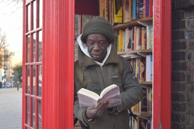 """""""I need to go to the public telephone box to make a call,"""" said no-one ever over the past decade or so. As technology prevails, most people seem to have a mobile phone glued to their hands and telephone boxes have sadly become outdated. Caption: Local resident Mark Brown enjoys the library and visits often."""