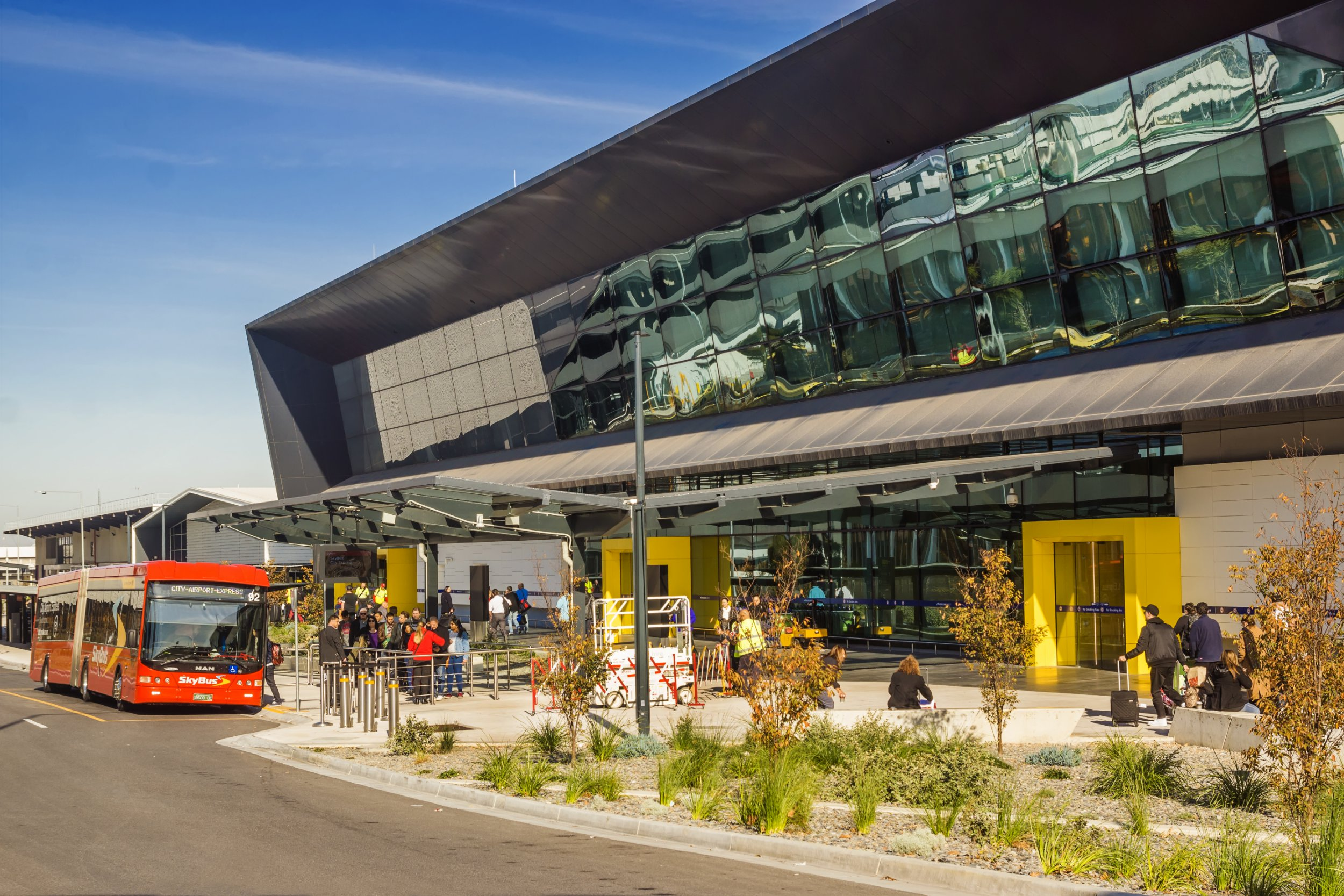 I was trying to rape her but she broke free Melbourne, Australia - June 2, 2016: A SkyBus picks up passengers from Melbourne Airport's new Terminal 4, which caters for domestic flights.