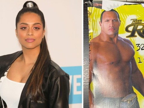 Lilly Singh gave out The Rock-themed Valentines Day cards years before they were friends