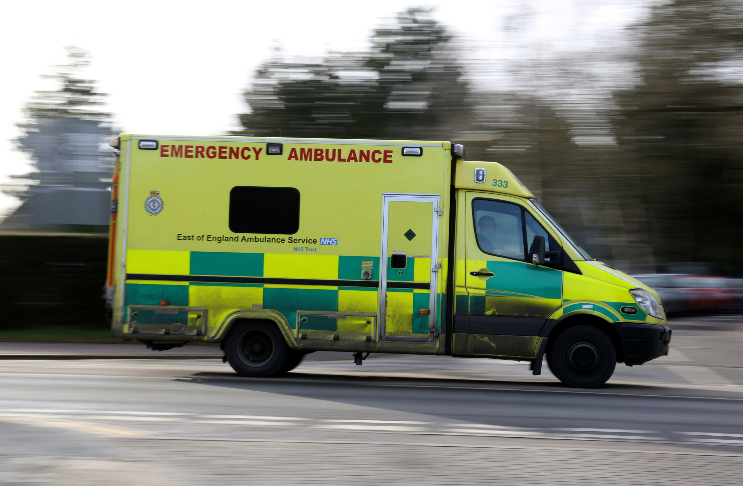 Embargoed to 0001 Saturday December 29 File photo dated 26/01/15 of an ambulance, as the number of casualties from crashes caused by slow drivers increased by almost a third last year, figures show.
