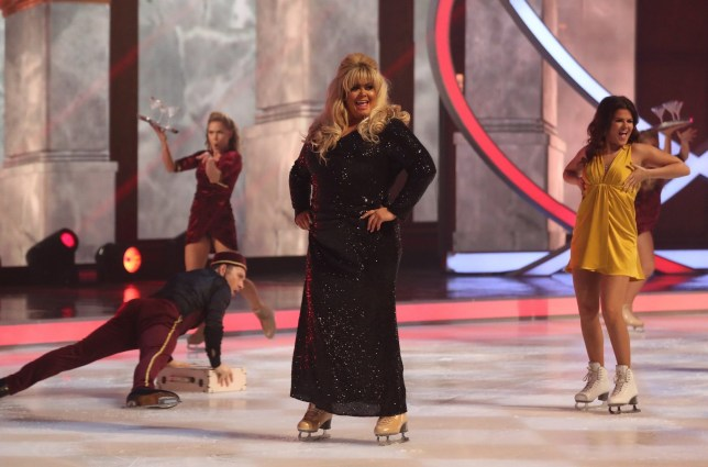 Editorial use only Mandatory Credit: Photo by Matt Frost/ITV/REX (10054908ew) Gemma Collins, Saara Aalto 'Dancing on Ice' TV show, Series 11, Episode 2, Hertfordshire, UK - 13 Jan 2019