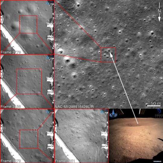 Picture: LROC Nasa speaks out to address claims China faked landing on dark side of the moon