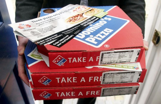FILE PICTURE - Domino's Pizza delivery. A skint mum who splashed out ?37 on Domino's pizza for her family called the POLICE when the order was cancelled. See SWNS story SWPLpizza. The woman, known only as Clair, ordered the slap-up feast for her three children aged 15, 13, and five despite having just ?44 in her bank account. But the kids were left in tears when the oven broke at the Domino's outlet in Plymouth, Devon. The pizza chain apologised but was unable to process the refund until the next day - meaning Clair did not have enough money left to feed her family.