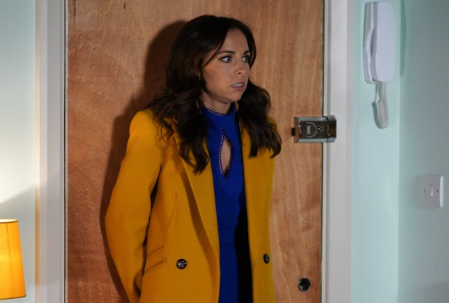 WARNING: Embargoed for publication until 00:00:01 on 22/01/2019 - Programme Name: EastEnders - January - March 2019 - TX: 31/01/2019 - Episode: EastEnders - January - March - 2019 - 5860 (No. 5860) - Picture Shows: *STRICTLY NOT FOR PUBLICATION UNTIL 00:01HRS TUESDAY 22nd JANUARY 2019* Ruby worries about the break in at her flat Ruby Allen (LOUISA LYTTON) - (C) BBC - Photographer: Kieron McCarron