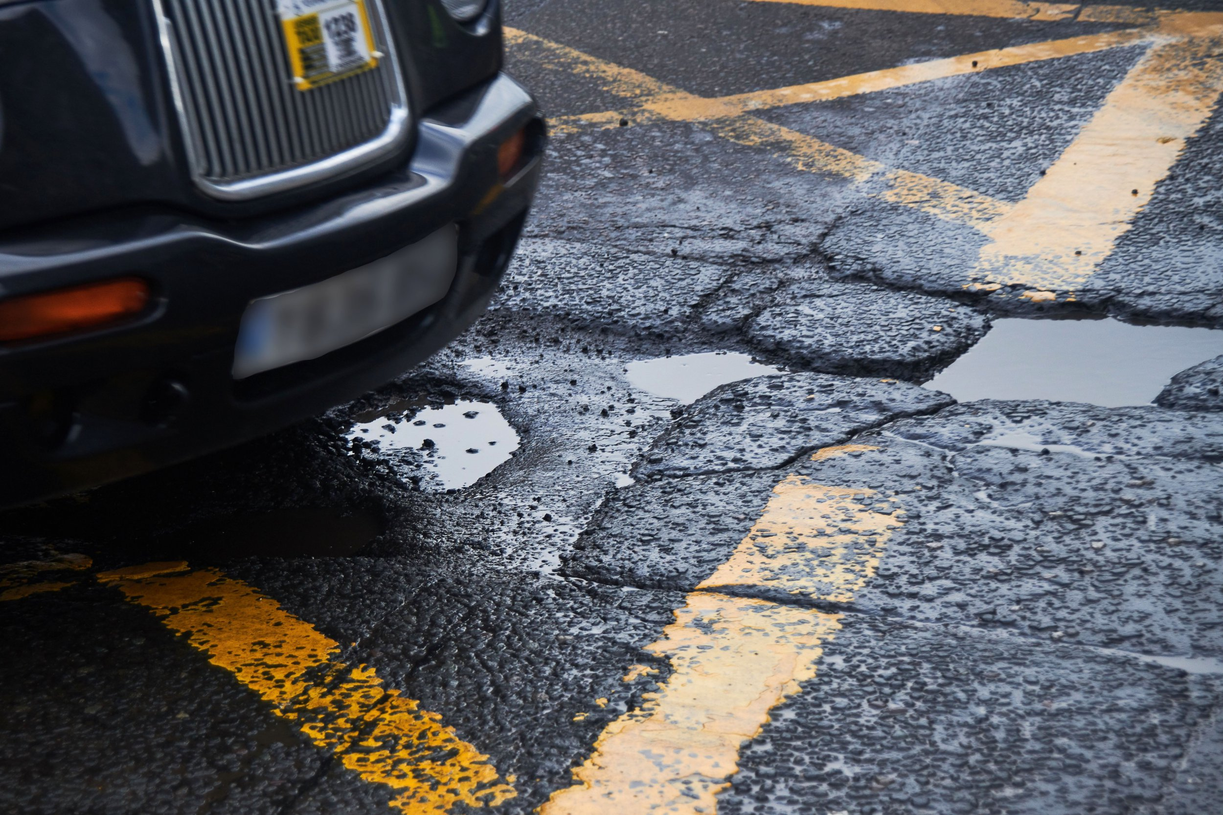 Mandatory Credit: Photo by Brian Anderson/REX/Shutterstock (9453107l) Pot hole Pot hole problem in Edinburgh, Scotland, UK - 09 Mar 2018 As the recent snow and ice recede the under funded road network shows the strain as serious pot holes appear making it unsafe for road users.