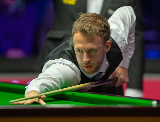 Judd Trump seals the first frame after almost an hour of safety play from both players during the quarter final on Day Six of the 2019 Dafabet Snooker Masters held at Alexandra Palace, London Picture by Steve O'Sullivan/Focus Images Ltd 07572544769 18/01/2019