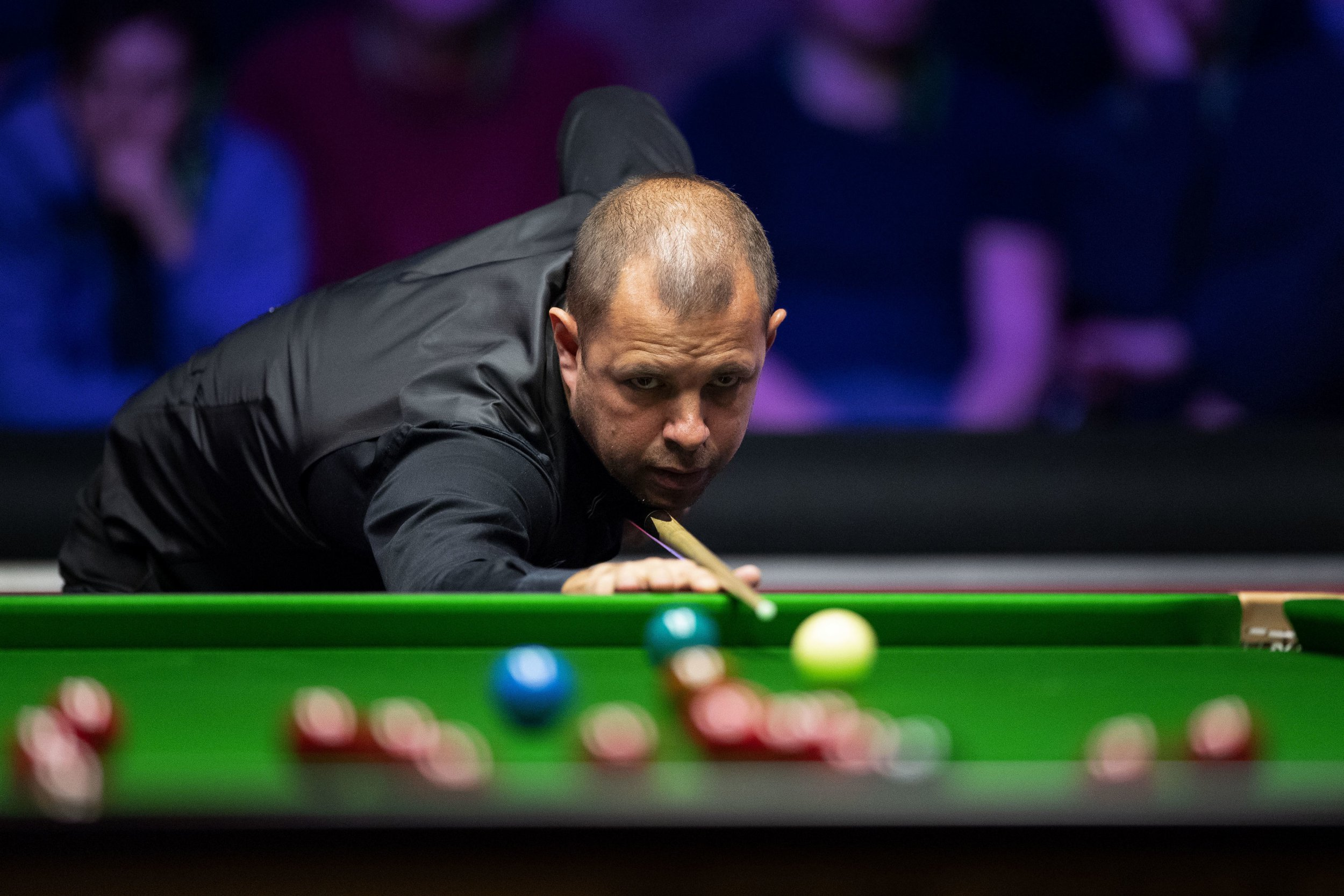 Barry Hawkins picks out an incredible four-ball plant in the Masters quarter-final