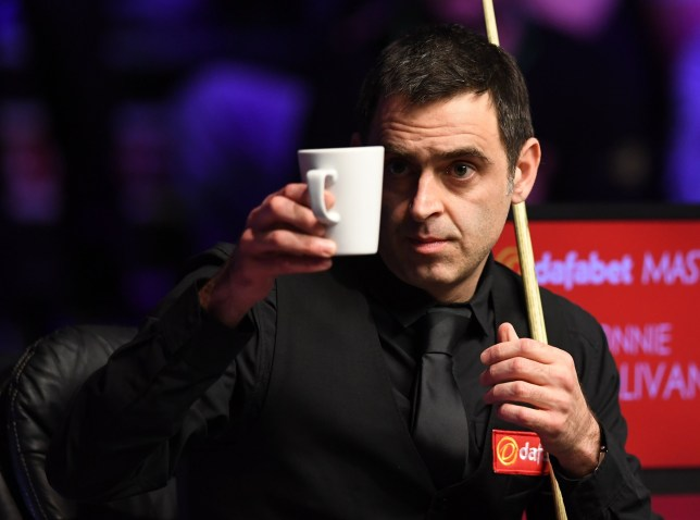 19th January 2019, Alexandra Palace, London, England; Dafabet Masters Snooker, semi finals; Ronnie O'Sullivan versus Ding Junhui, More tea for Ronnie O'Sullivan please (photo by Simon West/Action Plus via Getty Images)