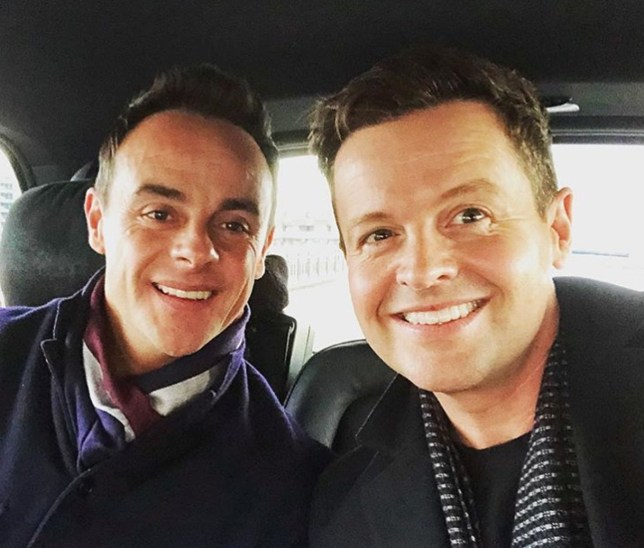 Screengrab taken from the Instagram feed of @antanddecofficial of Anthony McPartlin (left) and Declan Donnelly on their way to Britain's Got Talent auditions at the London Palladium. PRESS ASSOCIATION Photo. Issue date: Friday January 18, 2019. See PA story SHOWBIZ McPartlin. Photo credit should read: @antanddecofficial/PA Wire NOTE TO EDITORS: This handout photo may only be used in for editorial reporting purposes for the contemporaneous illustration of events, things or the people in the image or facts mentioned in the caption. Reuse of the picture may require further permission from the copyright holder.
