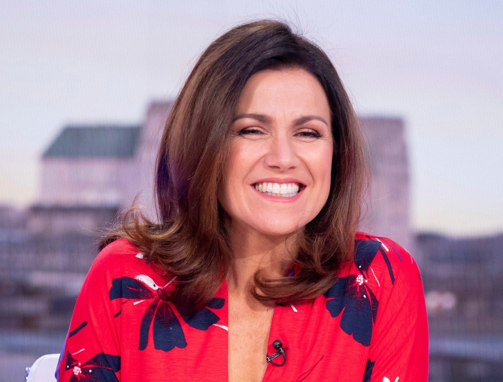 Editorial use only Mandatory Credit: Photo by Ken McKay/ITV/REX (10069544ab) Susanna Reid 'Good Morning Britain' TV show, London, UK - 21 Jan 2019