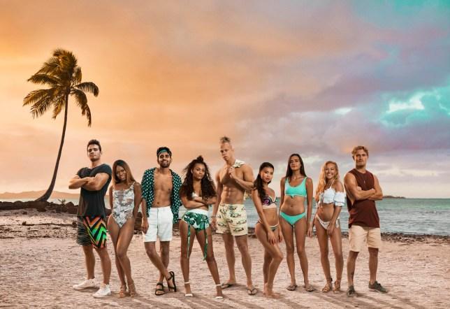 Shipwrecked's 2019 contestants Tom, Big T, Kush, Liv, Chris, Khalia, Emma, Hollie and Harry
