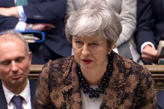 "A video grab from footage broadcast by the UK Parliament's Parliamentary Recording Unit (PRU) shows Britain's Prime Minister Theresa May making a statement to the House of Commons in London on January 21, 2019, on changes to her Brexit withdrawal agreement. - British Prime Minister Theresa May unveils her Brexit ""Plan B"" to parliament on Monday after MPs shredded her EU divorce deal, deepening the political gridlock 10 weeks from departure day. (Photo by HO / various sources / AFP) / RESTRICTED TO EDITORIAL USE - MANDATORY CREDIT "" AFP PHOTO / PRU "" - NO USE FOR ENTERTAINMENT, SATIRICAL, MARKETING OR ADVERTISING CAMPAIGNSHO/AFP/Getty Images"