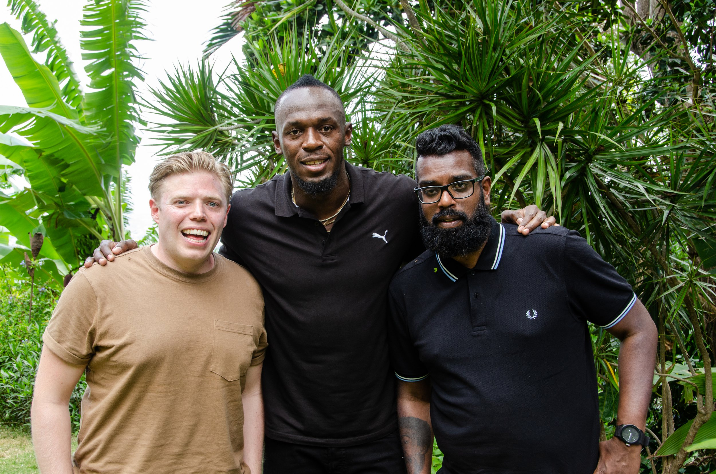 Rob Beckett and Romesh Ranganathan with Usain Bolt After their hilarious encounter with boxing champion Anthony Joshua, comedy A-listers, Rob Beckett and Romesh Ranganathan, are on a brand new mission - to meet their wish list of all-time greats from the worlds of sport and entertainment.