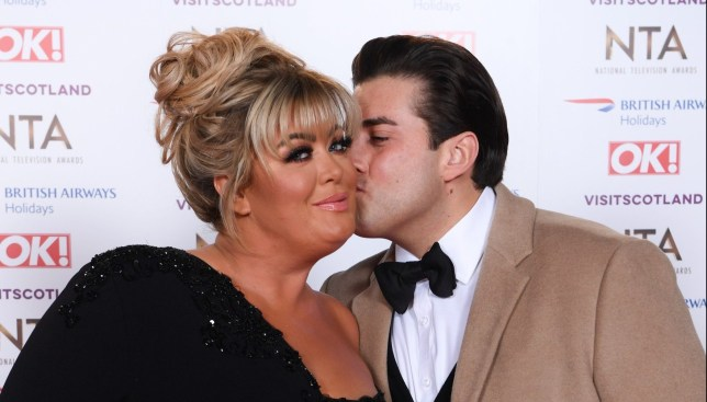 Mandatory Credit: Photo by David Fisher/REX (10069666eq) Gemma Collins and James Argent 23rd National Television Awards, Arrivals, O2, London, UK - 22 Jan 2019