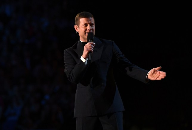 Dermot O'Leary presenting the National Television Awards at the O2 in London