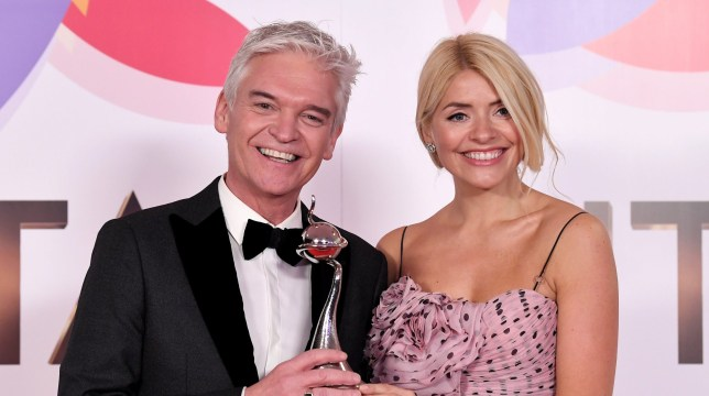 Mandatory Credit: Photo by Anthony Harvey/REX (10069672g) Holly Willoughby, Phillip Schofield - Daytime - 'This Morning' 23rd National Television Awards, Press Room, O2, London, UK - 22 Jan 2019