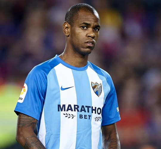 BARCELONA, SPAIN - OCTOBER 21: Diego Rolan of Malaga looks on during the La Liga match between Barcelona and Malaga at Camp Nou on October 21, 2017 in Barcelona, Spain. (Photo by fotopress/Getty Images)