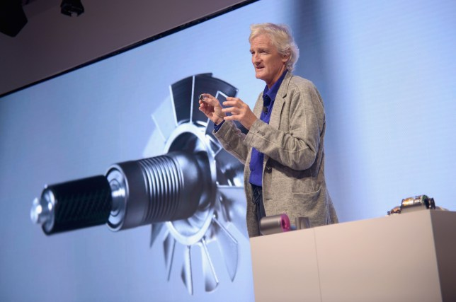 NEW YORK, NY - SEPTEMBER 14: Dyson founder and chief engineer Sir James Dyson speaks onstage during the Dyson Supersonic Hair Dryer launch event at Center548 on September 14, 2016 in New York City. (Photo by Jason Kempin/Getty Images for Dyson)