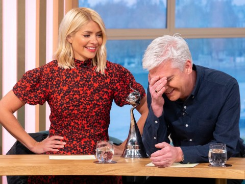 Holly Willoughby and Phillip Schofield worse for wear after boozy NTAs as he threatens to be sick